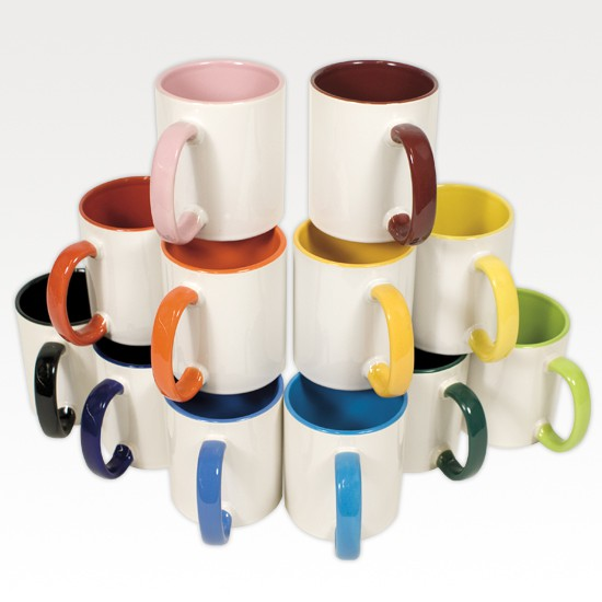 Tasse - Two Tone & Handle inkl. Fotodruck