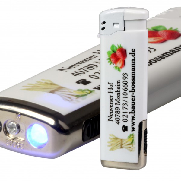Feuerzeug mit LED inkl. 4-farbigen Fotodruck