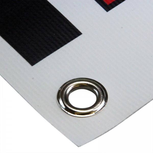 PVC Werbebanner je qm inkl. 4-farbigen Fotodruck und Ösen
