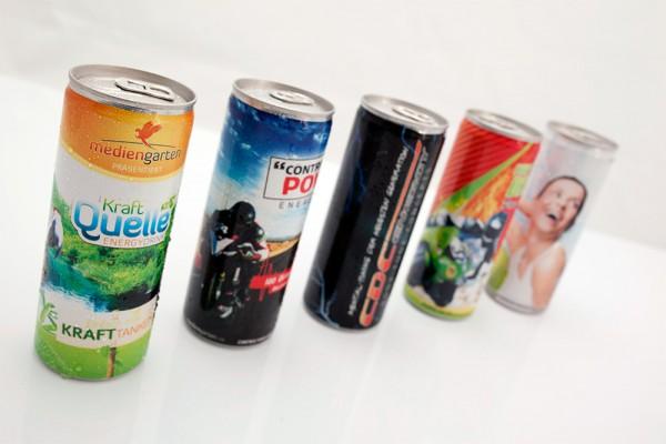 Energie Drink - bedruckte Dosen