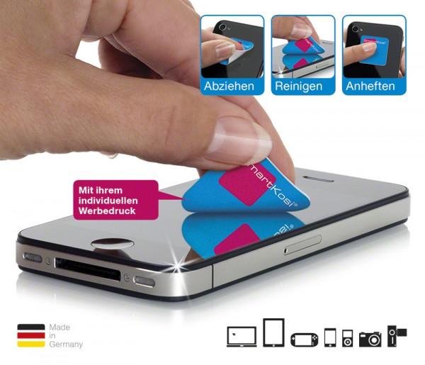 SmartCleaner und Trägerkarte bedruckt