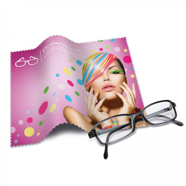 Brillenputztuch inkl. 4-farbigen Fotodruck